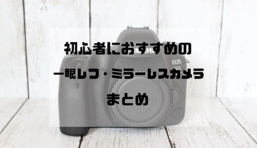 2019年最新版!初心者におすすめ人気の一眼レフ・ミラーレスカメラまとめ