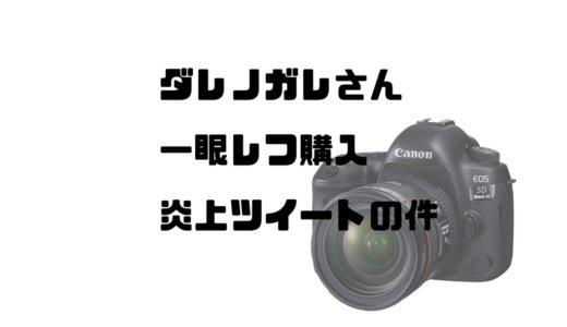 ダレノガレさんの一眼レフ購入炎上ツイートをカメラ好きの私目線で解説